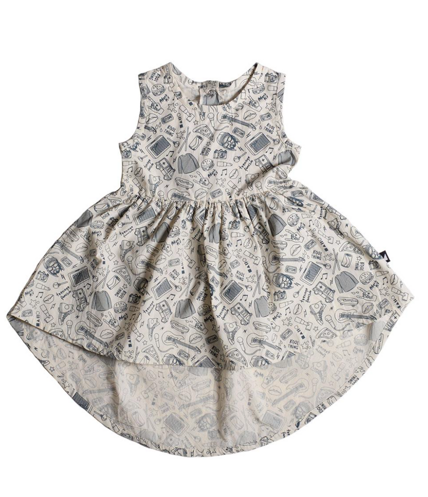 Girls Dress, Grey