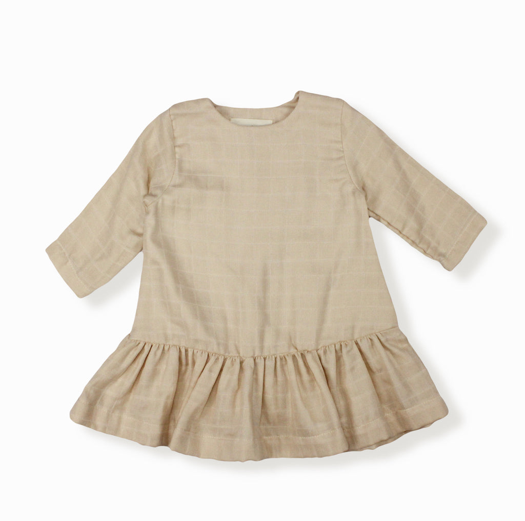 Baby Girl Lilly Dress, Beige