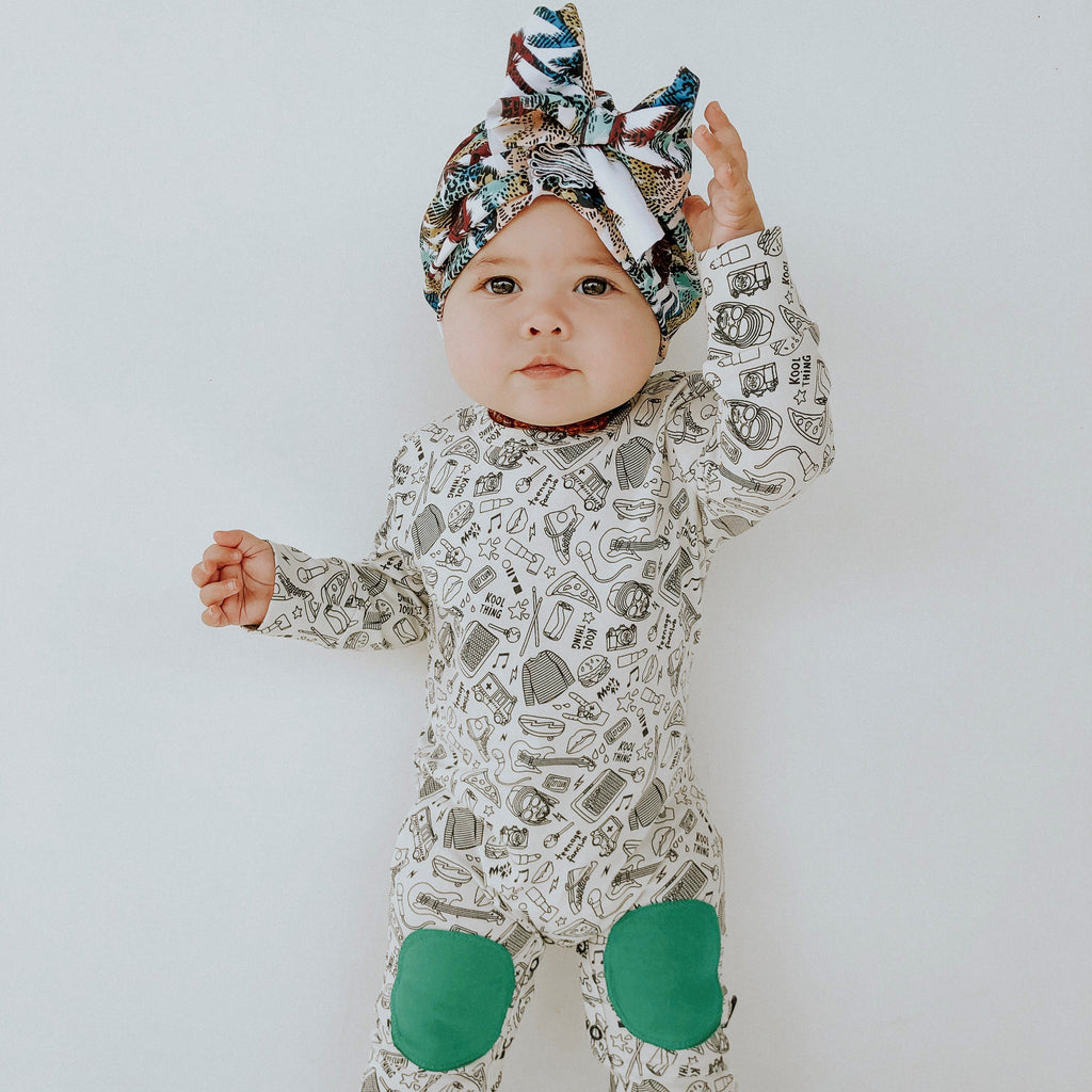 Unisex Baby Body Suit, Light Gray