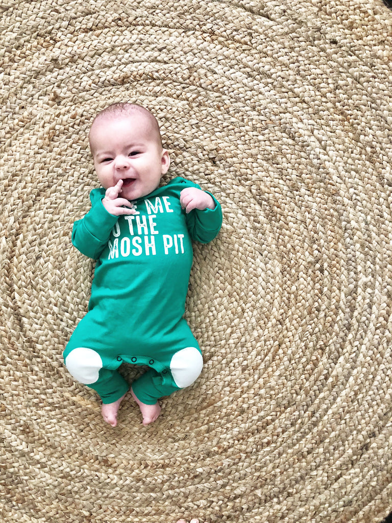 Unisex Baby Body Suit, Green