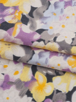 Silk & Organic Cotton Light Weight Printed Fabric ( GS07226 )