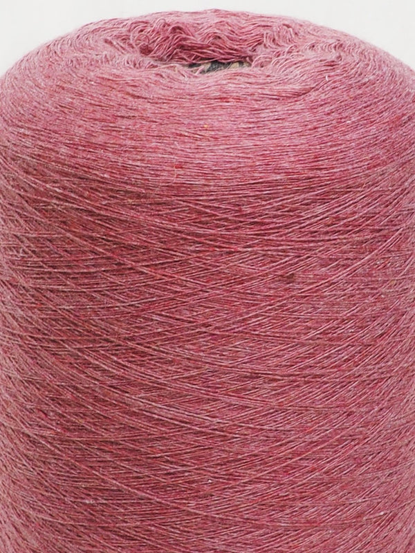 11s Red Recycled Hemp & Organic Cotton Yarn With Nubs - Hemp Fortex