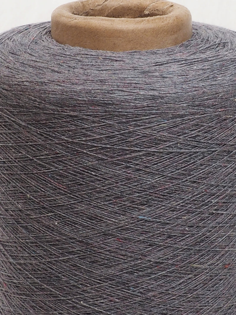 11s Recycled Hemp & Organic Cotton Dark Color Yarn With Nubs - Hemp Fortex