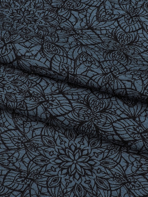 Organic Cotton & Bamboo Mid-Weight Stretched Printed Jersey Fabric(KJ14088)