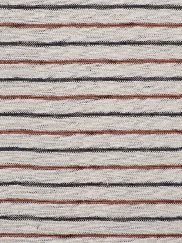 Hemp, Organic Cotton & Recycled Poly Mid-Weight Stripe Jersey(KJ21A818A)