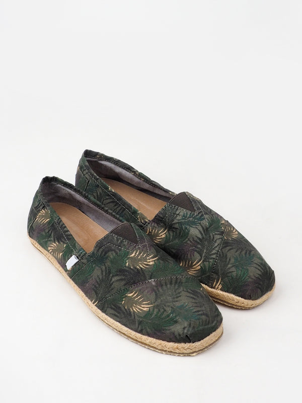 Women's Green Pattern Casual Shoes