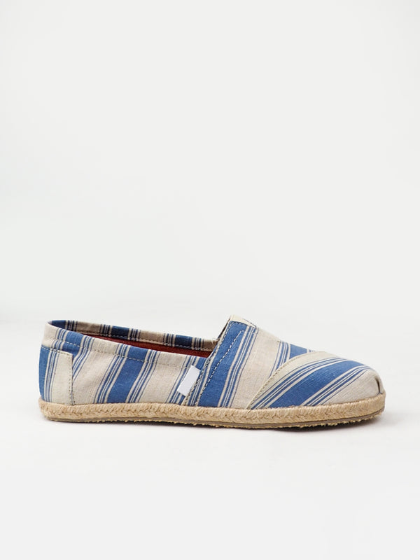 Women's Blue Striped Casual Shoes