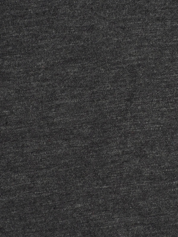 Pure Organic Cotton Light Weight Dark Grey Slub Jersey Fabric ( KJ30B881H )