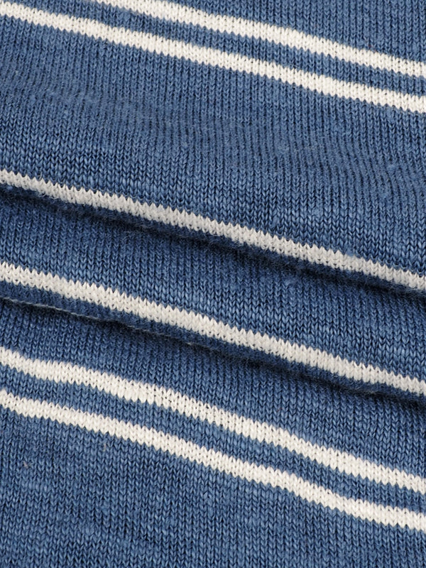 Pure Hemp Mid-Weight Striped Jersey Yarn Dyed Fabric ( KJ39D964 Three Colors Available)
