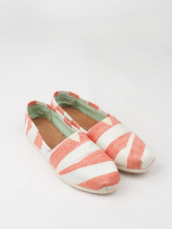 Women's Orange Striped Casual Shoes