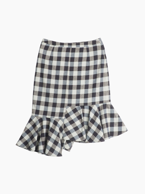 Hemp & Organic Cotton Plaid Flannel Bust Skirt - Hemp Fortex