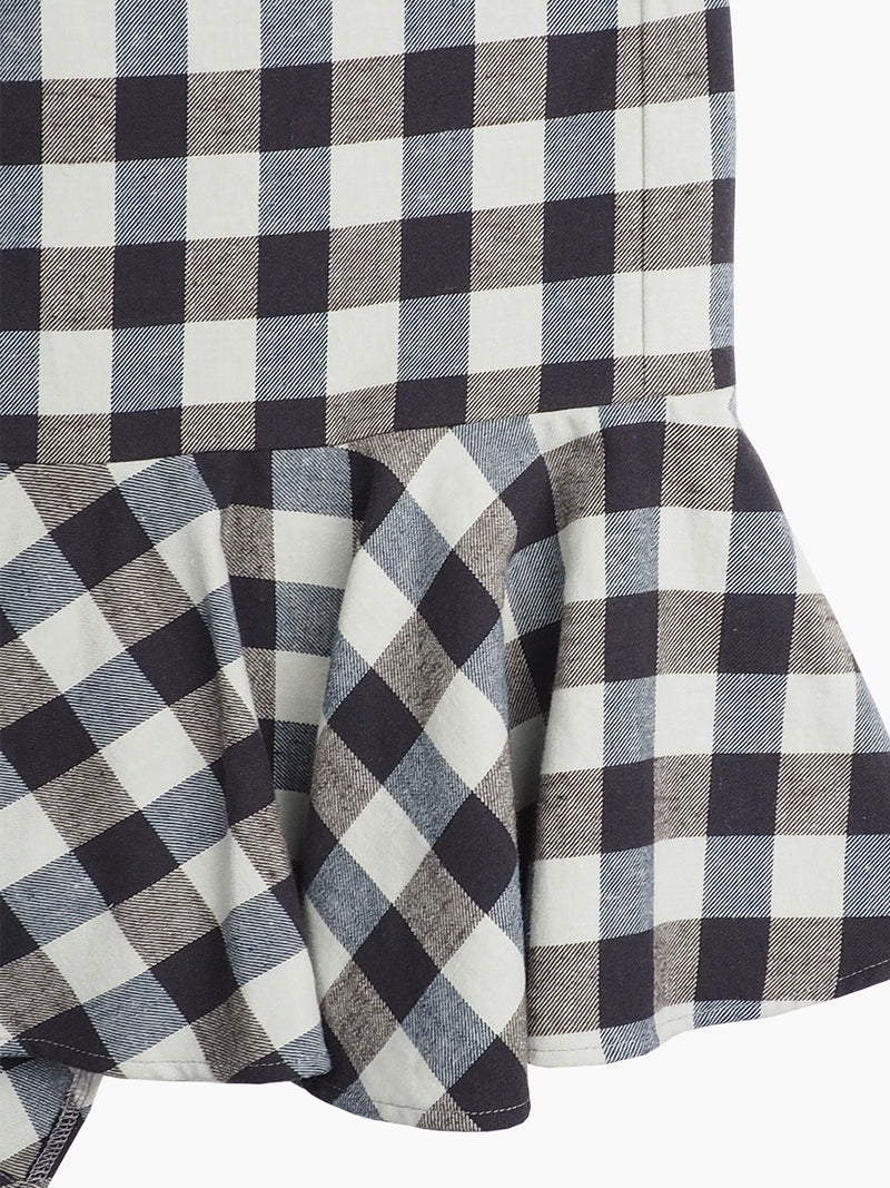 Hemp & Organic Cotton Plaid Flannel Bust Skirt