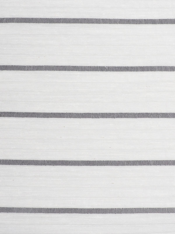 Hemp & Silk Light Weight Stripe Crinkle Yarn Dyed Fabric ( HS147A360 White with Stripe ) - Hemp Fortex