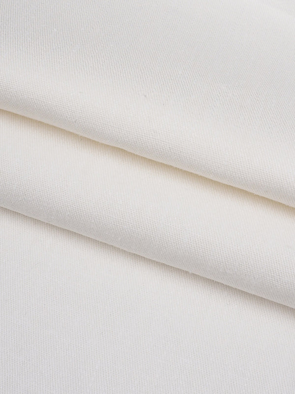 Hemp & Tencel  Light Weight Twill Fabric (Off-White)(HL10118B)