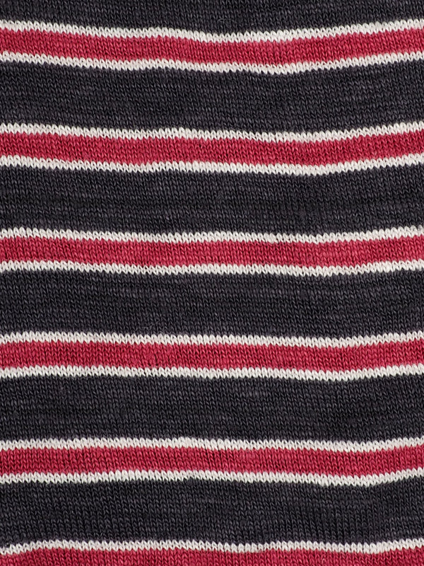 Pure Hemp Mid-Weight Striped Jersey ( KJ39D963 Two Colors Available )