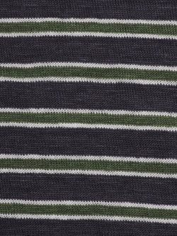 f1ff44a76f5 Pure Hemp Mid-Weight Striped Jersey Yarn Dyed Fabric ( KJ39D963 Two Colors  Available )