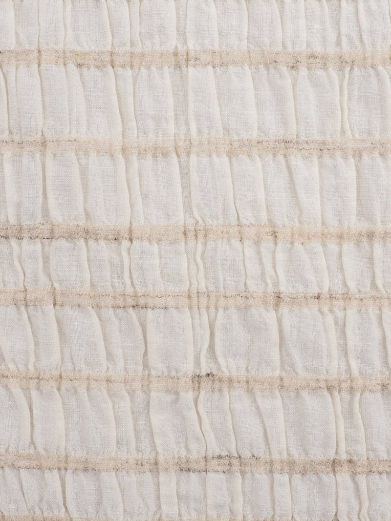 Hemp, Organic Cotton & Lyocell Light Weight Stretched Crinkle Fabric