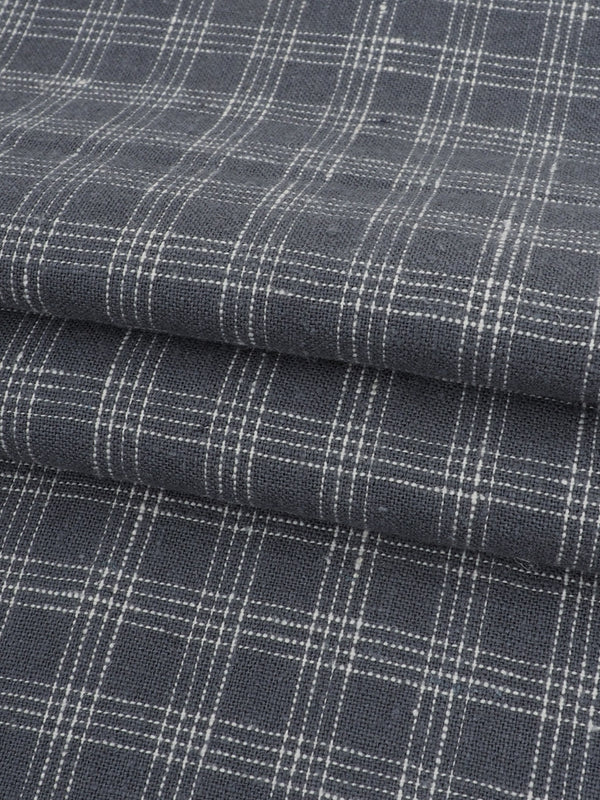 Hemp & Organic Cotton Light Weight Plaid Fabric ( HG58E125A )