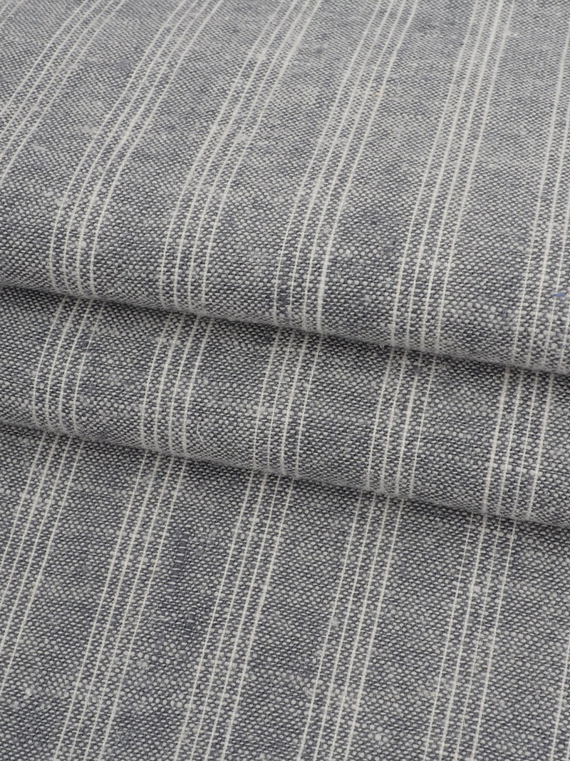 Hemp & Organic Cotton Light Weight Stripe Fabric ( HG58E126B )