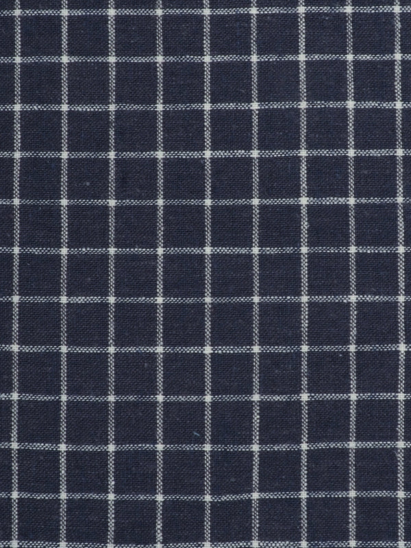Hemp & Organic Cotton Light Weight Plaid Fabric ( HG58E127A )