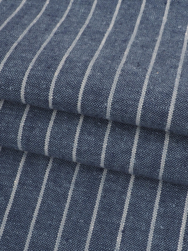 Hemp & Organic Cotton Light Weight Stripe Fabric ( HG58E128D )