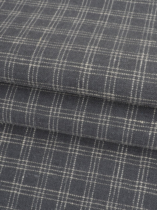 Hemp & Organic Cotton Light Weight Plaid Fabric ( HG58E129D )