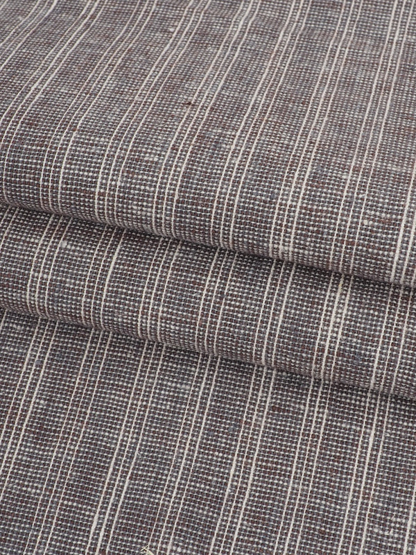 Hemp & Organic Cotton Light Weight Stripe Fabric ( HG58E130E )