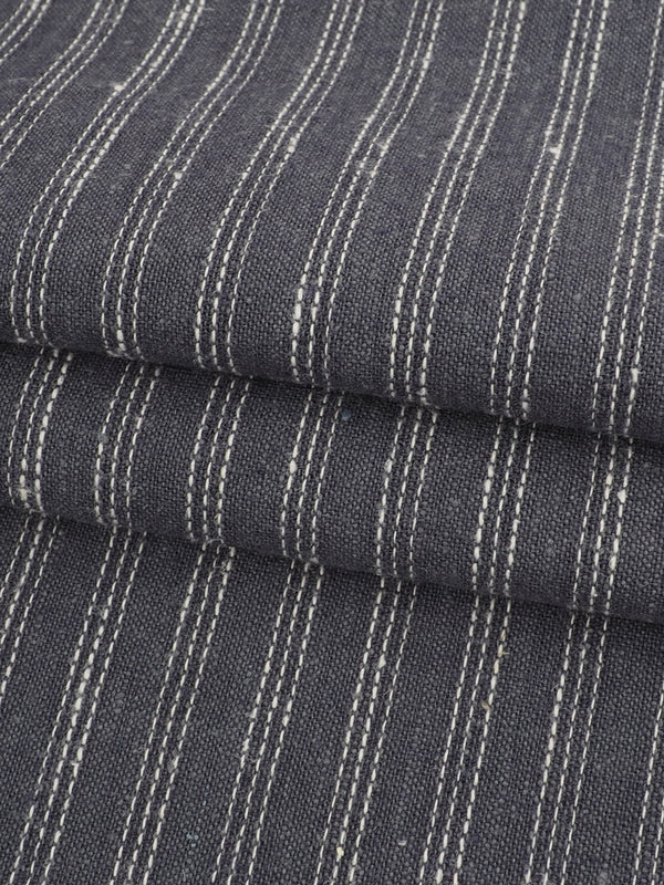 Hemp & Organic Cotton Light Weight Stripe Fabric ( HG58E131E )