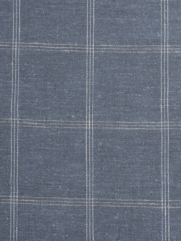 Hemp & Organic Cotton Light Weight Plaid Fabric ( HG58E132D )