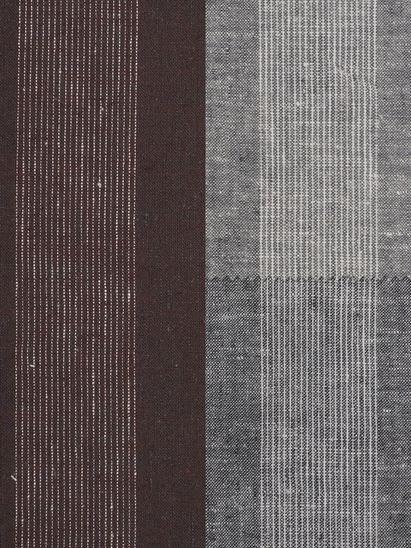 Hemp & Organic Cotton Light Weight Stripe Fabric ( HG58E144A )