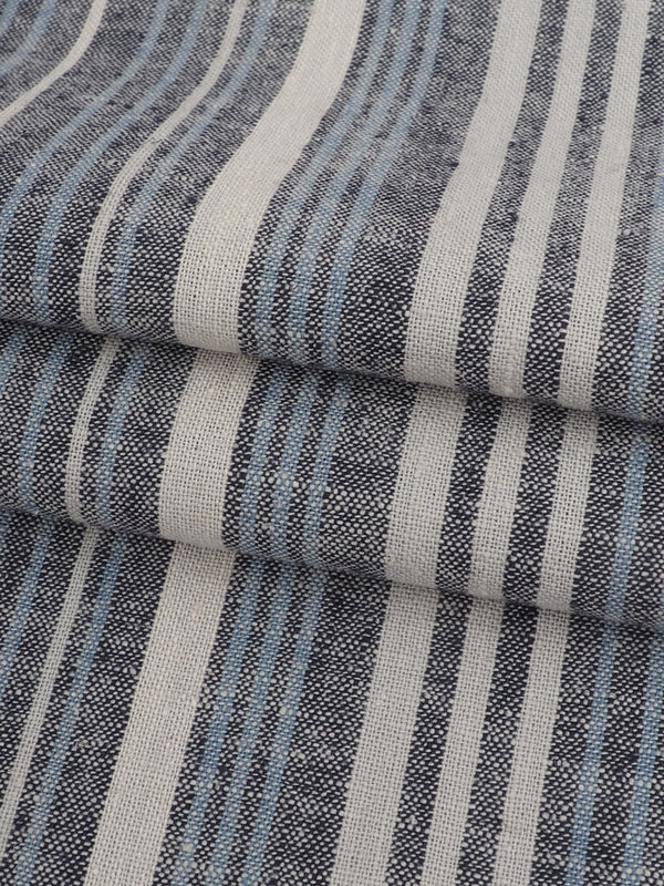 Hemp & Organic Cotton Light Weight Stripe Fabric ( HG58E202E )