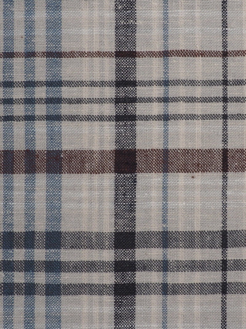 Hemp & Organic Cotton Light Weight Plaid Fabric ( HG58E203A )