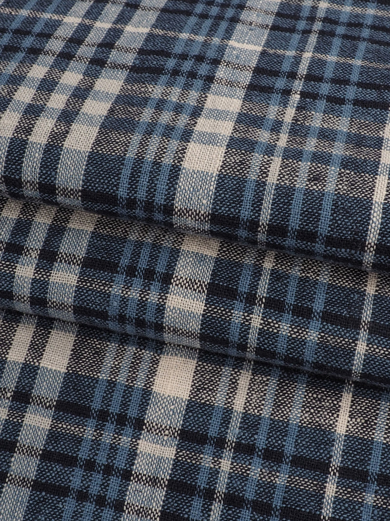 Hemp & Organic Cotton Light Weight Plaid Fabric ( HG58E203E )