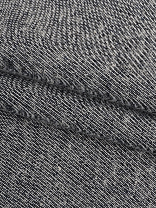 Hemp & Tencel Light Weight Stretched Yarn Dyed Fabric(HL74B294A Dark Grey Color) - Hemp Fortex