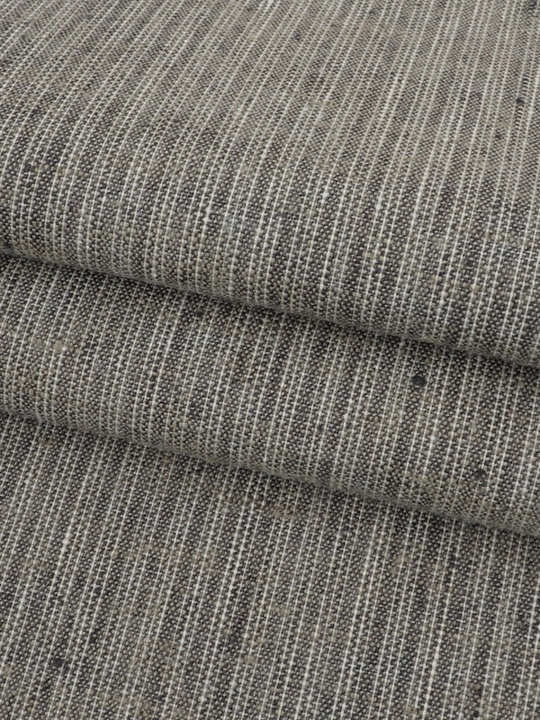 Hemp, Recycled Poly & Stretched Light Weight Stripe Fabric ( HP78B104B )