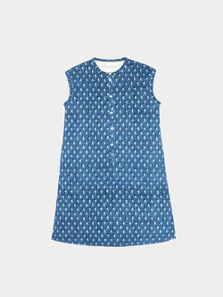 Hemp, Organic Cotton Mid-Weight Printed Pinafore Dress ( Six Colors Available)