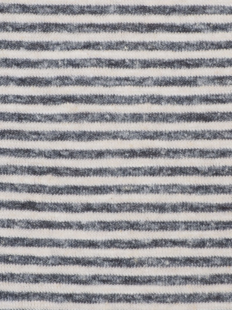 Hemp, Modal & Organic Cotton Mid-Weight Yarn Dyed Jersey Fabric (J8029)