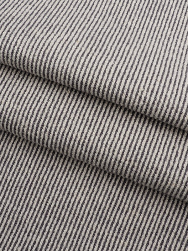 Hemp & Organic Cotton Mid-Weight Vertical Stripe Stretched Jersey