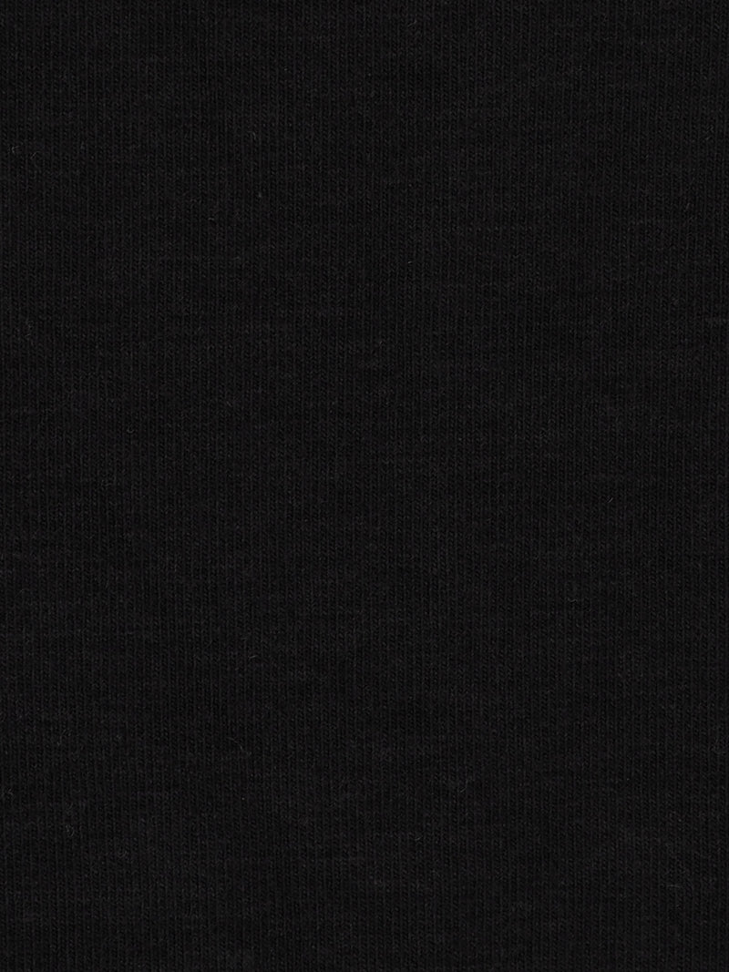 Organic Cotton & Bamboo Mid-Weight Stretched Jersey Fabric  ( KJ14040 Black )