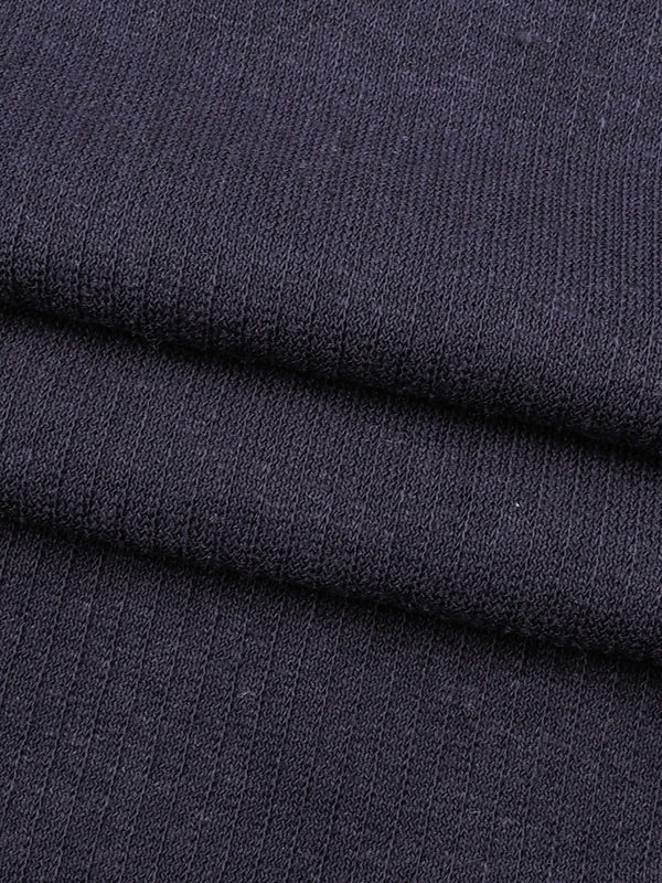 Hemp & Organic Cotton Mid-Weight Jacquard Jersey ( Mock Rib)(KJ21A1802-29)