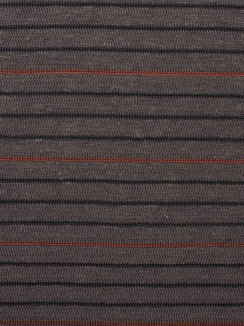 Hemp, Organic Cotton & Recycled Polyester Mid-Weight Stripe Jersey(KJ21A819A)