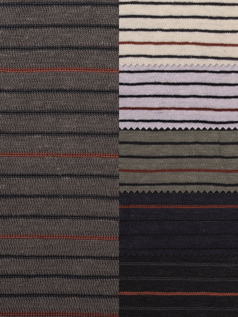 Hemp, Organic Cotton & Recycled Polyester Mid-Weight Stripe Jersey(KJ21A819A) - Hemp Fortex