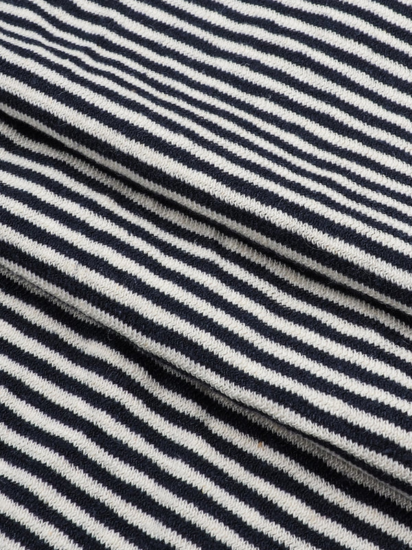 Hemp & Organic Cotton Mid-Weight Stripe Jersey(KJ21B966E)