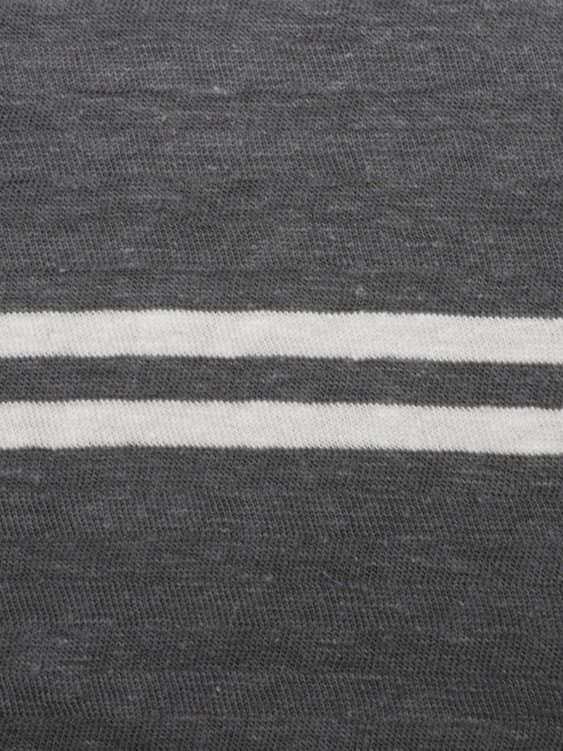 Hemp & Organic Cotton Mid-Weight Large Size Stripe Jersey(KJ21D854) - Hemp Fortex
