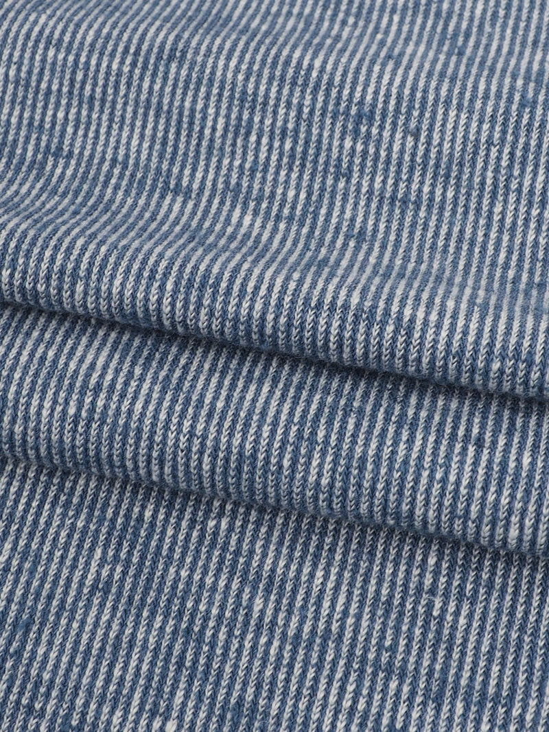 Hemp, Recycled Poly & Tencel Mid-Weight Yarn Dyed Jersey Fabric ( KJ21E866A )