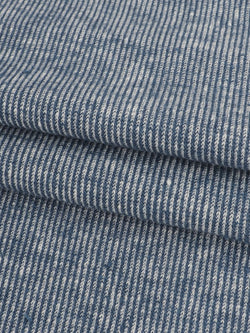Hemp, Recycled Poly & Tencel Heavy Weight Yarn Dyed Jersey Fabric ( KJ21E867A )
