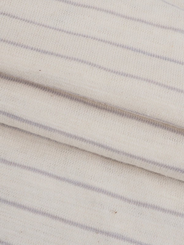 Pure Organic Cotton Light Weight Stripe Slub Jersey Fabric ( KJ30A812C )