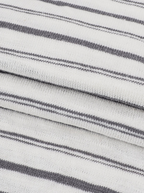 Pure Organic Cotton  Light Weight Stripe Yarn Dyed Jersey Fabric  ( KJ30B805 THREE COLORS AVAILABLE )