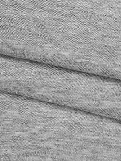 Pure Organic Cotton Light Weight Heather Grey Slub Jersey(KJ30B881F)