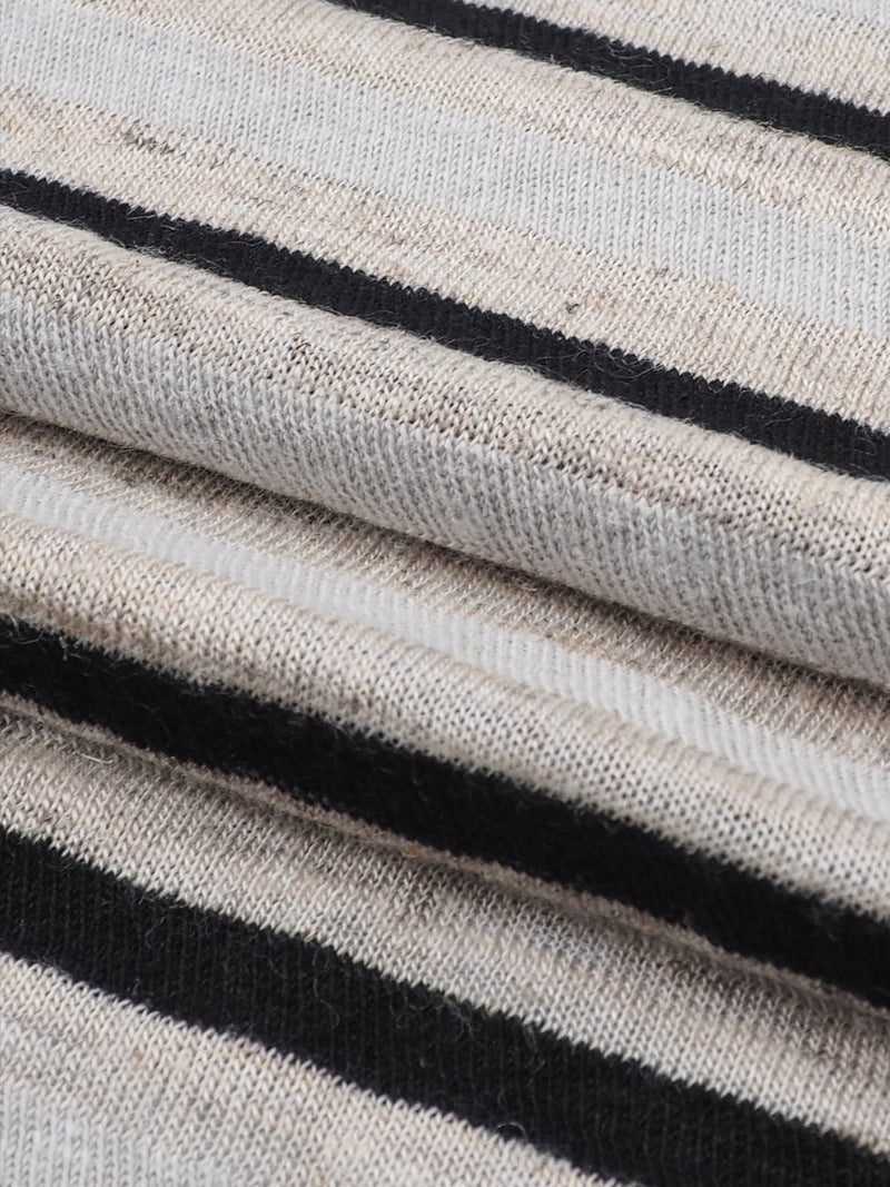 Hemp, Organic Cotton & Tencel Mid-Weight Stripe Jersey(KJ36D836)